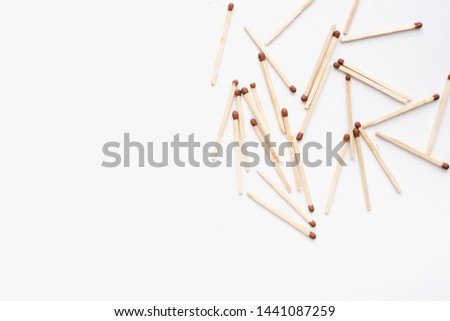matches, matches on a white background