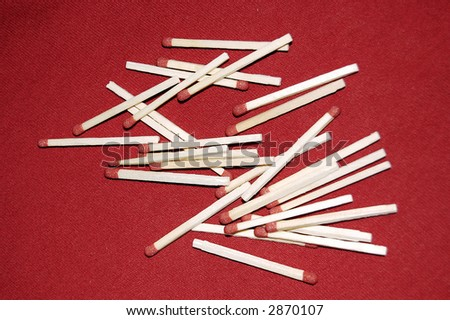Matches on a red background