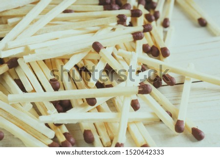 Matches. Some matches on white background. Matches Pattern. Abstract Background of Matches Pattern.
