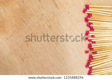 Matchstick on the table align right #1235888296