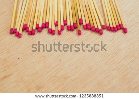 Matchstick on the table align top #1235888851
