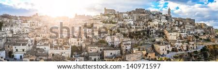 Matera, amazing city that lies athwart a small canyon