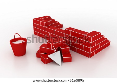 Materials for building of house.