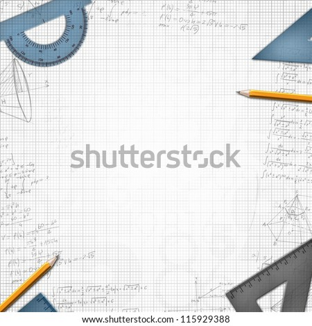 math school design background illustration