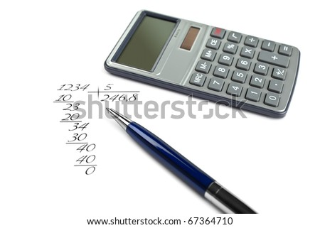Mathematical calculation, the handle and the calculator
