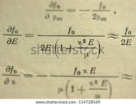 Mathematical formulas. symbols