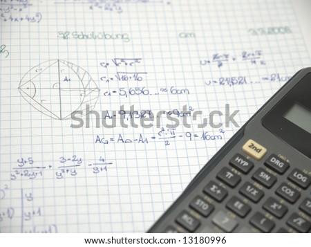 Mathematics homework Photo stock ©