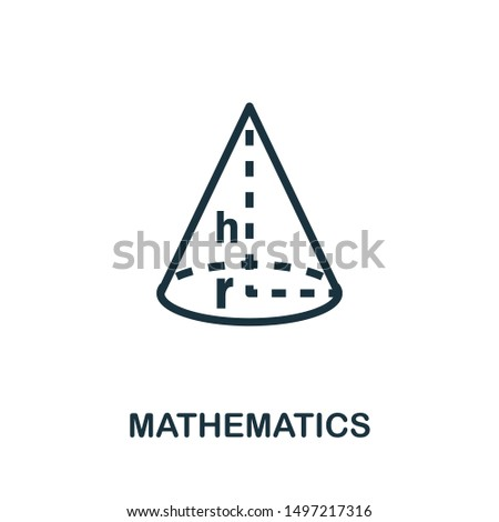 Mathematics icon illustration. Creative sign from education icons collection. Filled flat Mathematics icon for computer and mobile. Symbol, logo graphics.