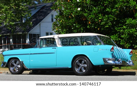 MATHEWS, VA- JUNE 01:A Chevy Nomad wagon in the Annual: Vintage TV\'s \