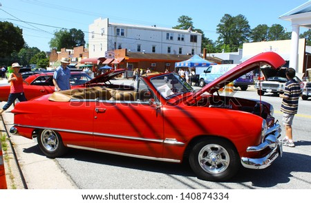 MATHEWS, VA- JUNE 01:A 51 Ford convertible in the Annual: Vintage TV\'s \