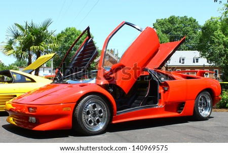 MATHEWS, VA- JUNE 01:A red Ferrari in the Annual: Vintage TV\'s \