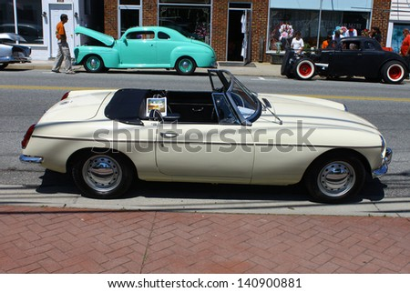 MATHEWS, VA- JUNE 01:An MG convertible motor in the Annual: Vintage TV\'s \