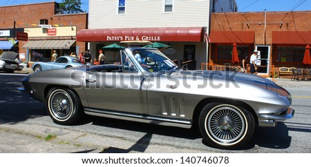 MATHEWS, VA- JUNE 01:An Old Chevy Corvette in the Annual: Vintage TV\'s \