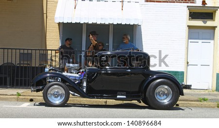 MATHEWS, VA- JUNE 01:An old Hotrod in the Annual: Vintage TV\'s \