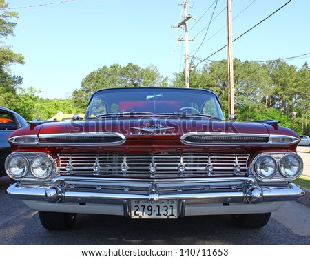 MATHEWS, VA- JUNE 01:59 Chevrolet front view in the Annual: Vintage TV\'s \