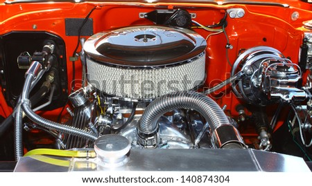 MATHEWS, VA- JUNE 01:57 Chevy Belair engine in the Annual: Vintage TV\'s \
