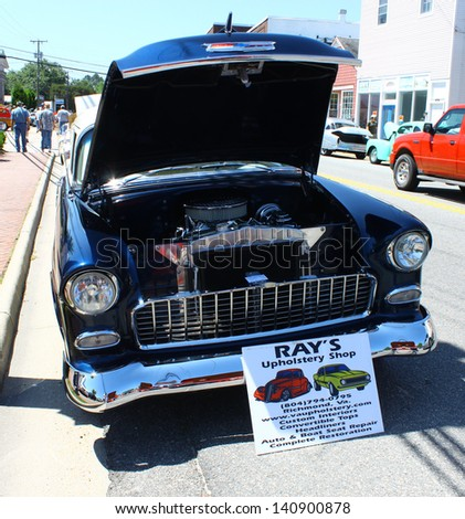 MATHEWS, VA- JUNE 01:Chevy Belair engine in the Annual: Vintage TV\'s \