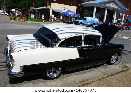 MATHEWS, VA- JUNE 01:56 Chevy Belair in the Annual: Vintage TV\'s \