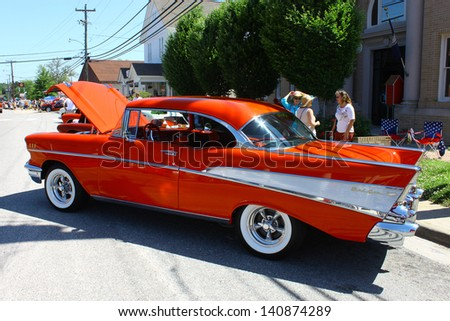 MATHEWS, VA- JUNE 01:57 Chevy Belair in the Annual: Vintage TV\'s \