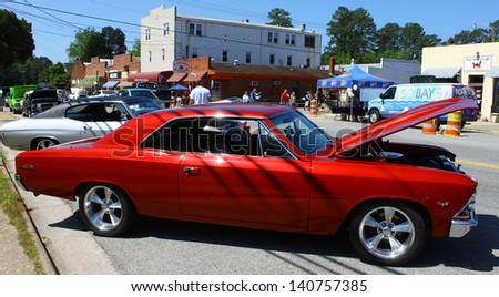 MATHEWS, VA- JUNE 01:1966 Chevy Chevelle right side in the Annual: Vintage TV\'s \
