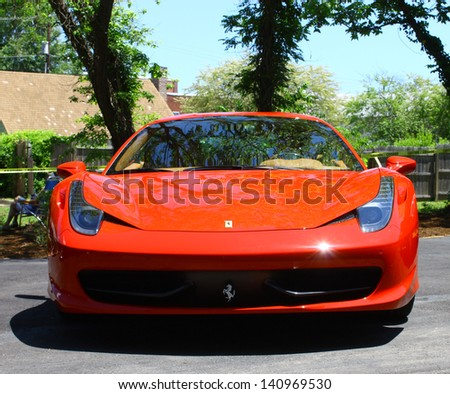 MATHEWS, VA- JUNE 01: Ferrari 458 Italia in the Annual: Vintage TV\'s \