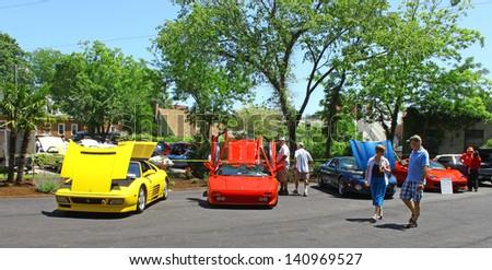 MATHEWS, VA- JUNE 01: Ferrari\'s and more in the Annual: Vintage TV\'s \
