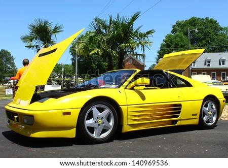 MATHEWS, VA- JUNE 01: Ferrari Testarossa in the Annual: Vintage TV\'s \