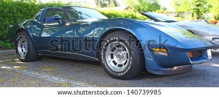 MATHEWS, VA- JUNE 01:L82 Chevy Corvette in the Annual: Vintage TV\'s \