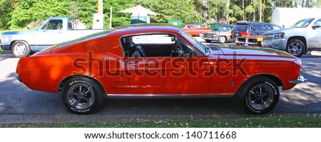 MATHEWS, VA- JUNE 01:Red Ford Mustang in the Annual: Vintage TV\'s \