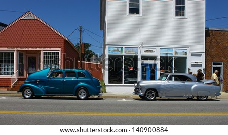 MATHEWS, VA- JUNE 01:Two old Hotrods in the Annual: Vintage TV\'s \