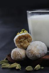 Mathura ka peda made from khoya/mawa peda in Uttar prades.