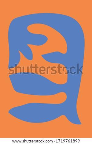 Matisse Blue Modern Minimalist Art