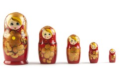 Matrioshka or  babushkas dolls