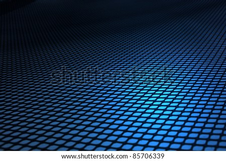 Matrix blue background.
