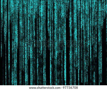 Matrix Letter code by the long blue.