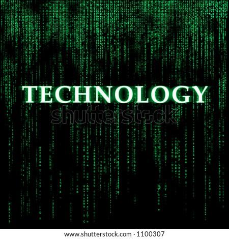 Matrix-like background - Technology