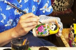 matryoshka doll painting craft skill the process of creating a piece of art