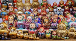 Matryoshka Dolls or Russian Nesting Dolls, most popular Russian souvenir