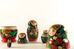 Matryoshka. National Russian wooden toy. Gift Set.