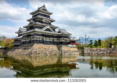 Matsumoto, Japan - town in Nagano prefeture of the region Chubu. Matsumoto Jo castle.