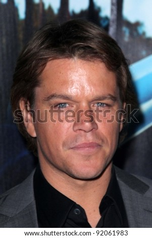 "Matt Damon at HBO's ""His Way"" Los Angeles Premiere, Paramount Studios,  Hollywood, CA 03-22-11"