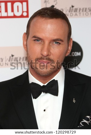 Matt Goss arriving at the The Amy Winehouse foundation ball held at the Dorchester hotel, London. 20/11/2012 Picture by: Henry Harris
