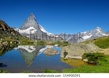 Matterhorn as seen from Riffelsee, Switzerland