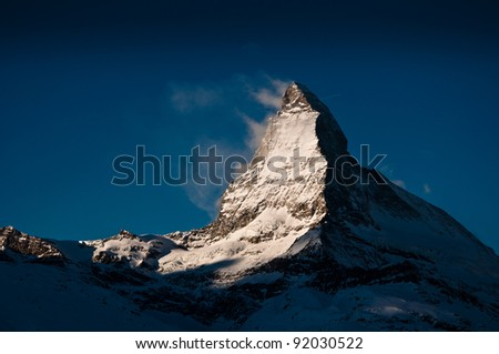 Matterhorn at Gornergrat Train, Switzerland