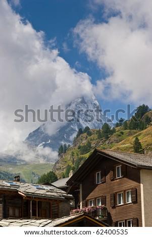 Matterhorn mountain seen from Zermatt, Switzerland