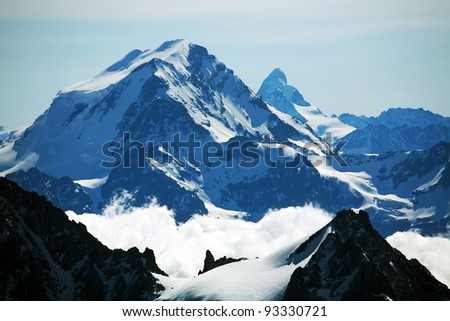Matterhorn Peak (4478m) seen from Aiguille du Midi, France