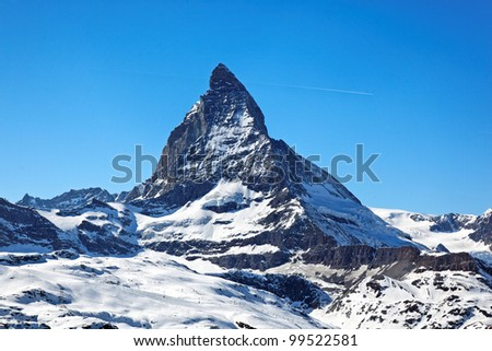 Matterhorn Peak, Swiss Alps, Europe