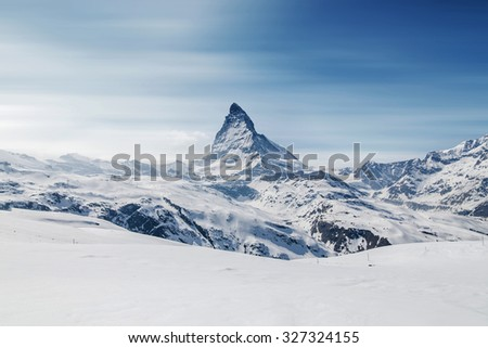 Matterhorn, Zermatt, Switzerland. Long-exposure style. #327324155