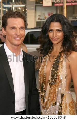 Matthew McConaughey and Camila Alves  at the World Premiere of 'Ghosts of Girlfriends Past'. Grauman's Chinese Theatre, Hollywood, CA. 04-27-09