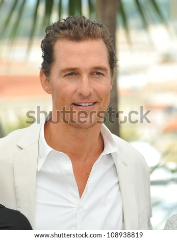 "Matthew McConaughey at the photocall for his new movie ""Mud"" in competition at the 65th Festival de Cannes. May 26, 2012  Cannes, France Picture: Paul Smith / Featureflash"